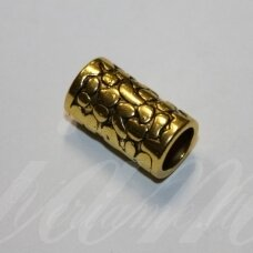 ind0600 about 19 x 10.5 mm, hole 8 mm. gold color, plastic, insert, 1 pc.