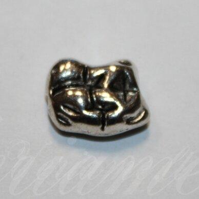 ind0506 apie 15 x 11 x 6 mm, metalo spalva, metalinis intarpas, 1 vnt.