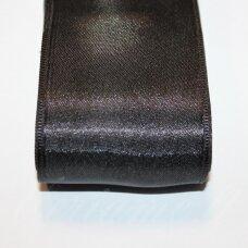 j0110 apie 10 mm, juoda spalva, atlasinė juostelė, 10 m.