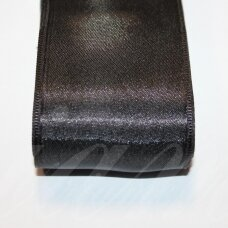 j0110 about 38 mm, black color, satin ribbon, 10 m.