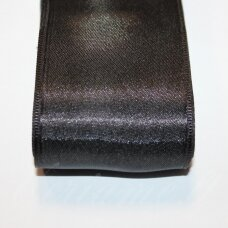 j0110 about 5 mm, black color, satin ribbon, 10 m.