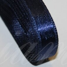 j0119 apie 20 mm, mėlyna spalva, atlasinė juostelė, 1 m.