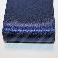 j0120 apie 10 mm, tamsi, mėlyna spalva, atlasinė juostelė, 10 m.