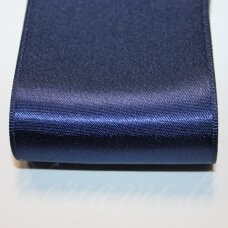 j0120 about 20 mm, dark, blue color, satin ribbon, 1 m.
