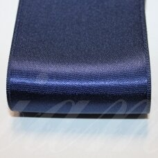 j0120 about 66 mm, dark, blue color, satin ribbon, 10 m.
