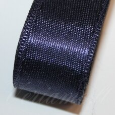 j0123 about 10 mm, dark, blue color, satin ribbon, 10 m.
