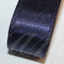 J0123 apie 5 mm, tamsi, mėlyna spalva, atlasinė juostelė, 1 m.
