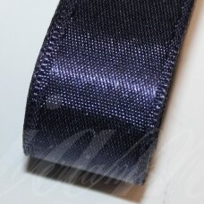 J0123 apie 5 mm, tamsi, mėlyna spalva, atlasinė juostelė, 10 m.