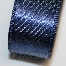 j0124 apie 20 mm, tamsi, mėlyna spalva, atlasinė juostelė, 1 m.