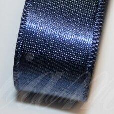j0124 apie 20 mm, tamsi, mėlyna spalva, atlasinė juostelė, 10 m.