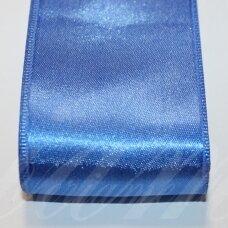 J0130 apie 50 mm, mėlyna spalva, atlasinė juostelė, 1 m.