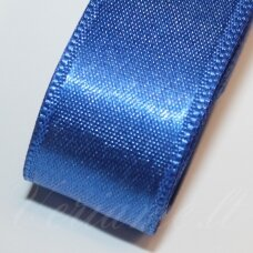 J0131 apie 20 mm, tamsi, mėlyna spalva, atlasinė juostelė, 1 m.