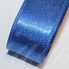 J0131 apie 38 mm, tamsi, mėlyna spalva, atlasinė juostelė, 1 m.