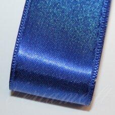 j0132 apie 30 mm, tamsi, mėlyna spalva, atlasinė juostelė, 10 m.