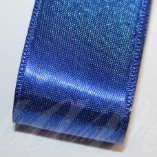 J0132 apie 38 mm, tamsi, mėlyna spalva, atlasinė juostelė, 10 m.