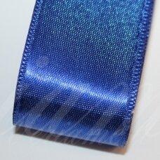 J0132 apie 5 mm, tamsi, mėlyna spalva, atlasinė juostelė, 1 m.