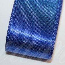 j0132 apie 5 mm, tamsi, mėlyna spalva, atlasinė juostelė, 10 m.
