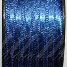 j0135 apie 5 mm, tamsi, mėlyna spalva, atlasinė juostelė, 1 m.