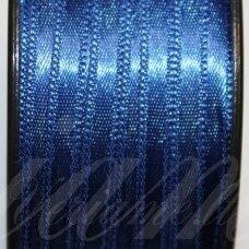 j0135 apie 5 mm, tamsi, mėlyna spalva, atlasinė juostelė, 10 m.