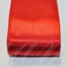 j0150 apie 10 mm, raudona spalva, atlasinė juostelė, 10 m.