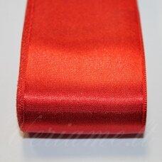 j0150 apie 38 mm, raudona spalva, atlasinė juostelė, 10 m.