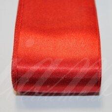 J0150 apie 5 mm, raudona spalva, atlasinė juostelė, 1 m.