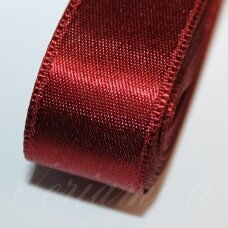 j0155 apie 10 mm, bordo spalva, atlasinė juostelė, 10 m.