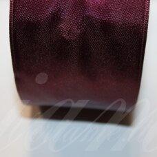 J0156 apie 66 mm, bordo spalva, atlasinė juostelė, 1 m.