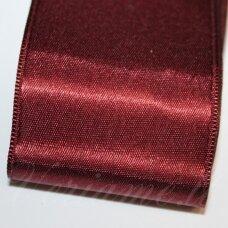 j0157 apie 10 mm, bordo spalva, atlasinė juostelė, 10 m.