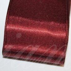J0157 apie 66 mm, bordo spalva, atlasinė juostelė, 1 m.