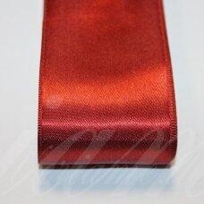 J0160 apie 38 mm, bordo spalva, atlasinė juostelė, 10 m.