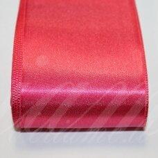 j0162 apie 5 mm, tamsi, rožinė spalva, atlasinė juostelė, 1 m.