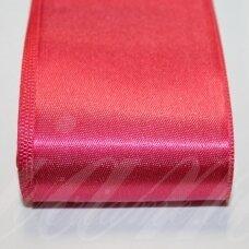j0162 apie 50 mm, tamsi, rožinė spalva, atlasinė juostelė, 10 m.