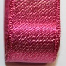 j0163 apie 20 mm, tamsi, rožinė spalva, atlasinė juostelė, 1 m.