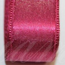 j0163 apie 20 mm, tamsi, rožinė spalva, atlasinė juostelė, 10 m.