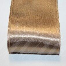 j0169 apie 10 mm, šviesi, ruda spalva, atlasinė juostelė, 10 m.