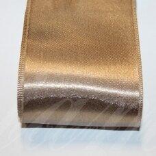 J0169 apie 5 mm, šviesi, ruda spalva, atlasinė juostelė, 10 m.