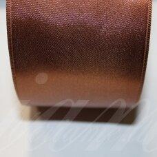 j0170 apie 10 mm, ruda spalva, atlasinė juostelė, 10 m.