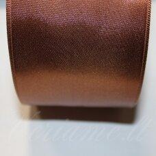 J0170 apie 20 mm, ruda spalva, atlasinė juostelė, 1 m.