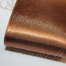 J0171 apie 20 mm, ruda spalva, atlasinė juostelė, 1 m.