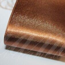j0171 apie 5 mm, ruda spalva, atlasinė juostelė, 1 m.