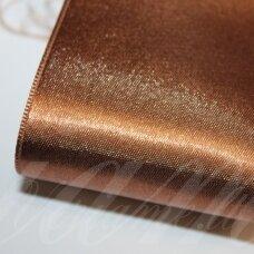 J0171 apie 5 mm, ruda spalva, atlasinė juostelė, 10 m.