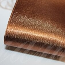 J0171 apie 66 mm, ruda spalva, atlasinė juostelė, 1 m.