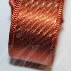 j0172 apie 10 mm, ruda spalva, atlasinė juostelė, 10 m.
