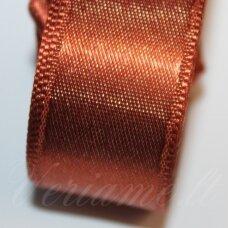 J0172 apie 20 mm, ruda spalva, atlasinė juostelė, 1 m.
