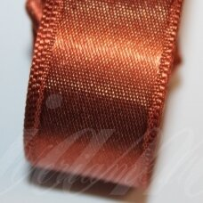 j0172 apie 30 mm, ruda spalva, atlasinė juostelė, 1 m.