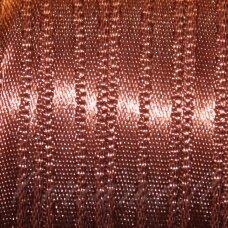 J0175 apie 20 mm, ruda spalva, atlasinė juostelė, 1 m.