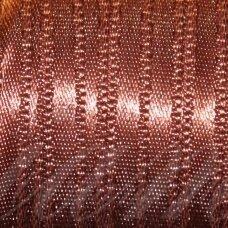 J0175 apie 5 mm, ruda spalva, atlasinė juostelė, 10 m.