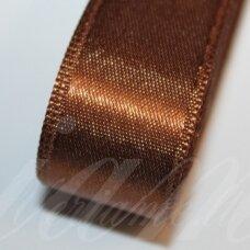 J0180 apie 15 mm, ruda spalva, atlasinė juostelė, 10 m.