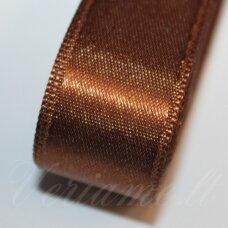 J0180 apie 20 mm, ruda spalva, atlasinė juostelė, 1 m.